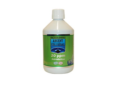 Argent Colloïdal Solution 20ppm 500ml BIO - phytominero.com